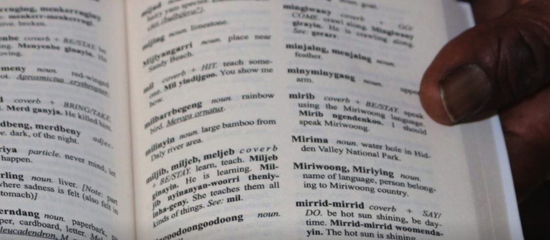 Page from the Miriwoong Dictionary